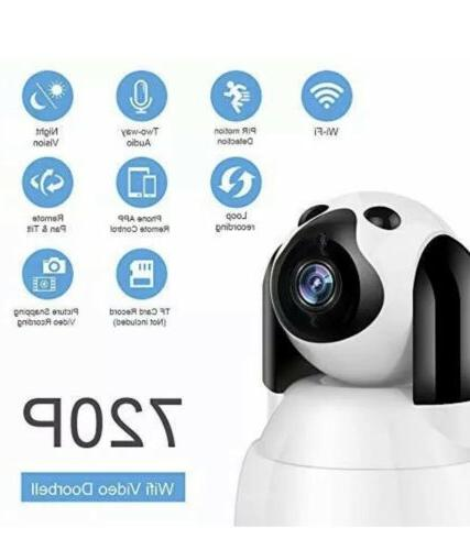 Smart WiFi 720P for Home Security, Monitor, Dogs,