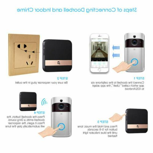 Smart Home 720P Visual Doorbell For IOS Android CellPhone
