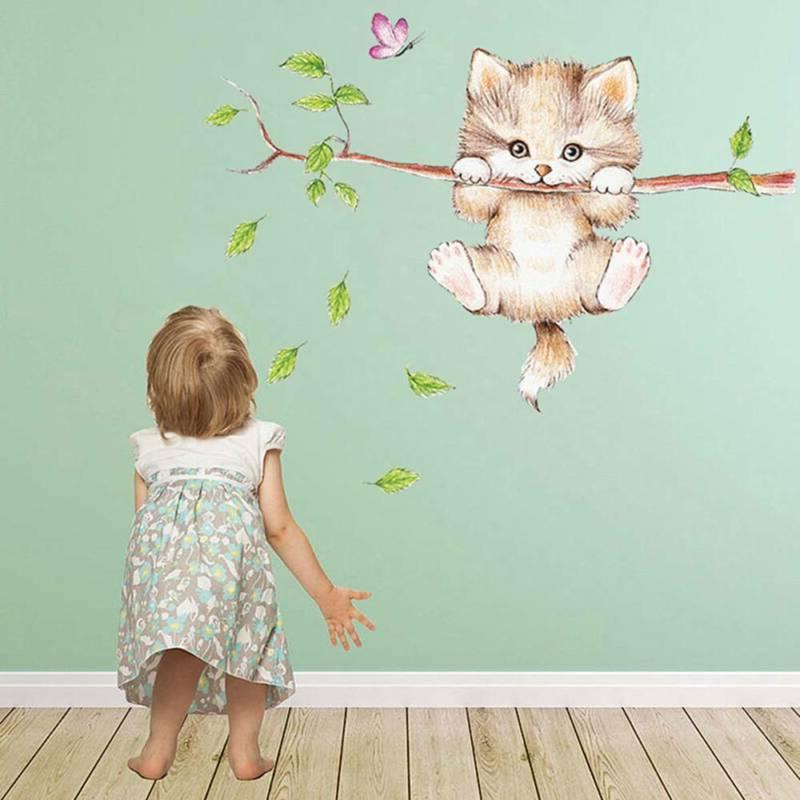 Cute Butterfly Branch Wall Stickers for Kids