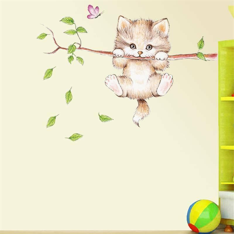 Cute Butterfly Branch Wall Stickers Kids Home