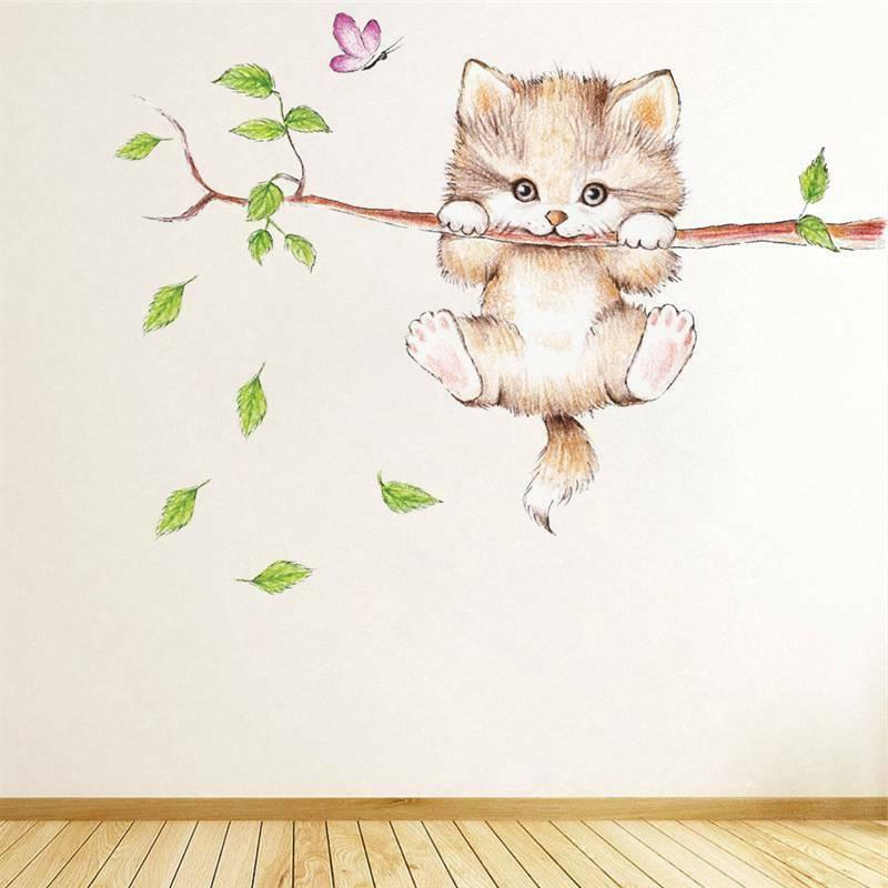 Cute Butterfly Branch Wall Stickers Kids