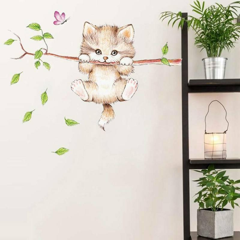 Cute Butterfly Branch Wall Kids Home Decoration