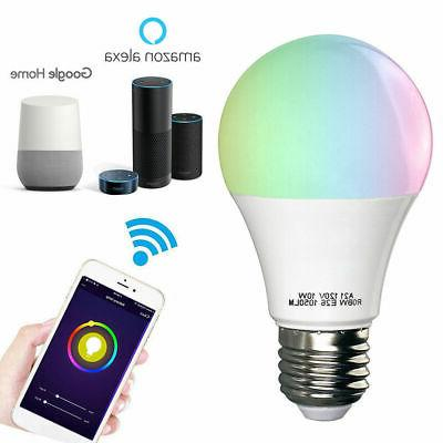 wifi smart multi color led light bulb