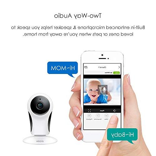 ZOSI Home Security, IP Camera 10m Home/Office/Baby/Elder/Pet/Nanny Monitor, Motion Alert, Access