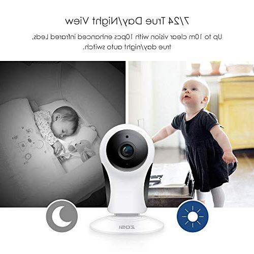ZOSI 1080P Wireless Camera Home Security, 2.4G Only IP with 10m Night Home/Office/Baby/Elder/Pet/Nanny Monitor, Two-Way Motion