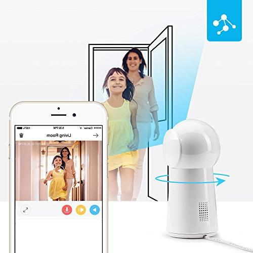 Zmodo HD Camera, Wireless Security Surveillance Smart Two-Way Audio Camera with Night Vision with iOS,