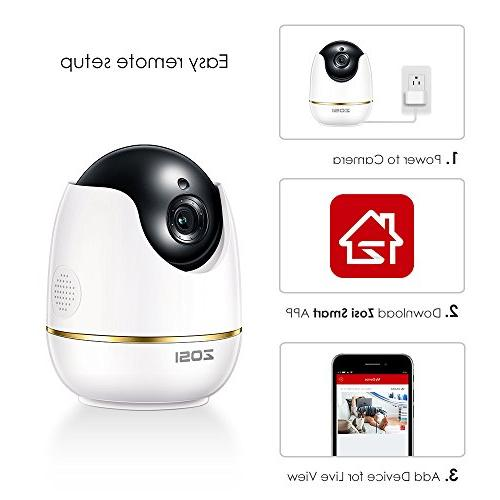 ZOSI Security Camera Camera Nanny Camera PTZ & Night