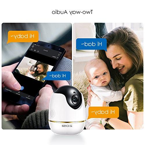 ZOSI 1080P Wireless Camera Camera Monitor Camera Indoor,Two-Way Audio &