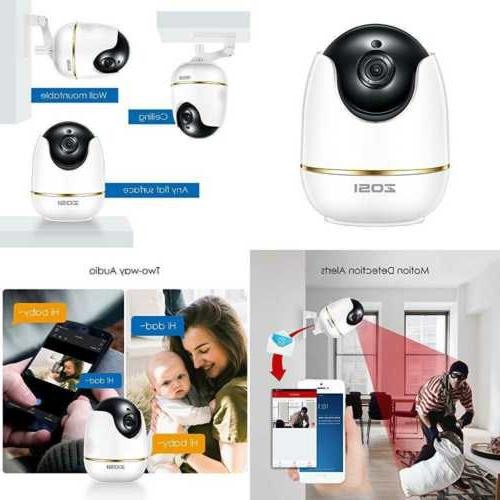 ZOSI Camera Home, WiFi Monitor with Pan,Surveillance IP Camera Indoor,Two-Way Audio & Vision