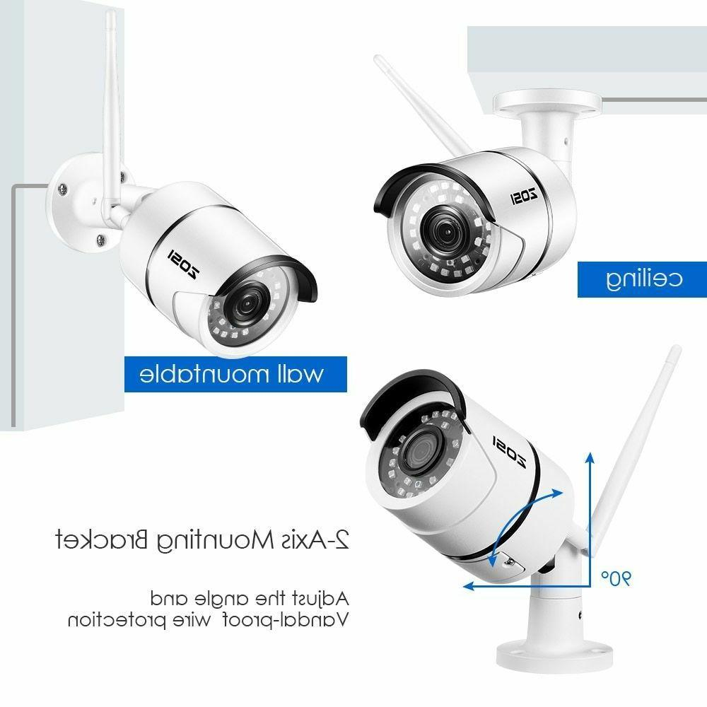 Wireless Security Camera Outdoor Cam for Home with