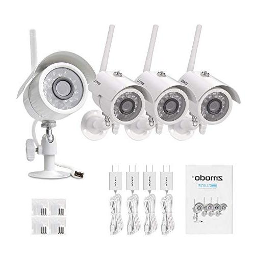 Zmodo Security System with Motion Detection&Night Remote Access, Cloud