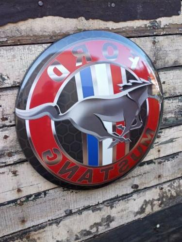 xl 17 mustang dome metal sign vintage