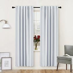 RYB HOME Living Room Curtains Greyish White  Thermal Insulat