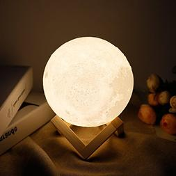 Moon lamp - Lampwin 5.9 Inch USB Rechargeable Dimmable LED 3