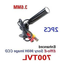 2PCS - CCTV 3.6mm Color Wired outdoor Mini Spy bullet Camera