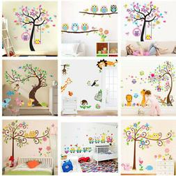 Nursery Removable Animal Tree Wall Sticker For Kids Room Hom