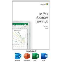 Microsoft Office 2019 Home and Business for 1 User Windows P