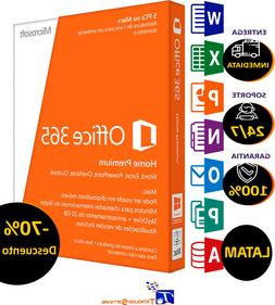 Microsoft Office 365 Home Premium 1 Year Subscription For 5
