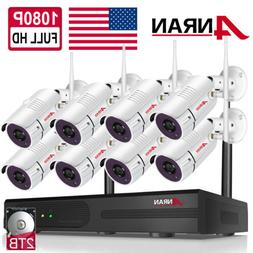 Outdoor 8CH NVR CCTV WIFI Security Camera System Wireless Ho
