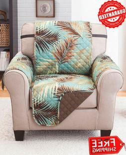 Palm Print Reversible Protective Cover for Home Furniture Re