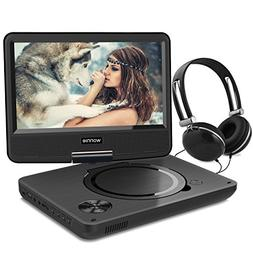 WONNIE New 10.5 Inch Portable DVD Player with 9.5 inch Swive