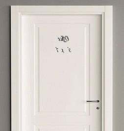 Private Office Coats Mud Room door decal sticker for home B&