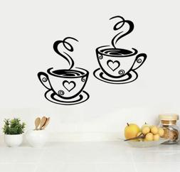 Removable Coffee Tea Cups Wall Stickers Art Decal For Home K
