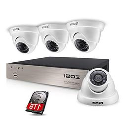 ZOSI FULL TRUE 1080P Home Surveillance Camera System, 4 Weat