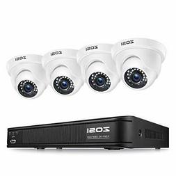 ZOSI 8-Channel 720P Video Security System DVR and 720P Indoo