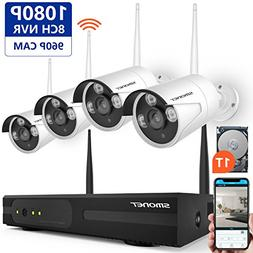 Security Camera System Wireless,SMONET Full HD 8CH 1080P Hom