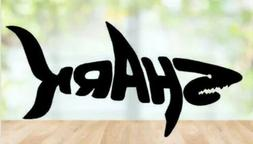 Shark word vinyl Decal for home cars walls cups bumper stick