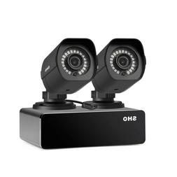 SHO 2 Pack Full HD 1080P Outdoor sPoE Security Camera w/8CH