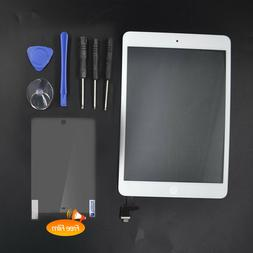 White Touch Screen Glass Digitizer Replacement+ IC+Home Butt