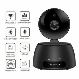 WiFi Home Security Camera with Pan Tilt Zoom, 1080P 2 Way Au