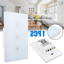 WIFI Smart Ceiling Fan Controller Home Wall Switch Touch Pan
