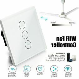 WiFi Smart Ceiling Fan Controller Wall Switch Touch Panel Fo