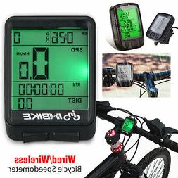 US LCD Digital Bicycle Computer Bike Backlight Speedometer O