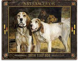 Winchester For Sale here Metal tin sign hunting dogs bullet