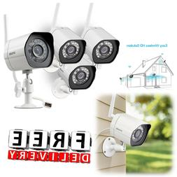 Wireless Outdoor Security Camera System 4Pc 720p Video Home