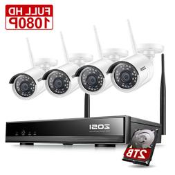 ZOSI Wireless Security IP Camera System 1080p WIFI 8 Channel