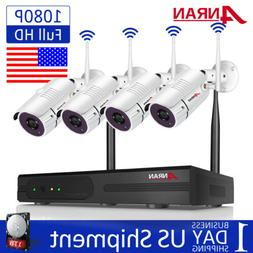 Wireless WiFi Home Security Camera System Outdoor 1080P 8CH