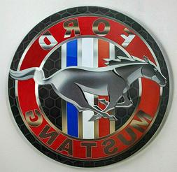 XL-17'' Ford Mustang Dome Metal Sign VINTAGE APPEAL –for y