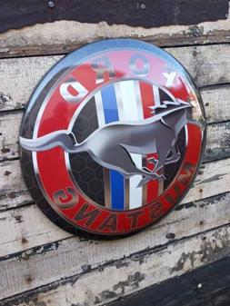 XL-17'' Ford Mustang Dome Metal Sign VINTAGE APPEAL ,for you